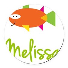 Melissa-the-big-fish Round Car Magnet