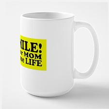 life sticker Large Mug