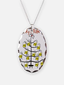 Merry Christmas Nurse Tree Fol Necklace