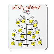 Merry Christmas Nurse Tree Foley Bags Mousepad