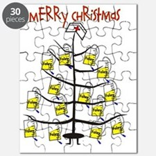 Merry Christmas Nurse Tree Foley Bags Puzzle