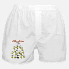 Merry Christmas Nurse Tree Foley Bags Boxer Shorts