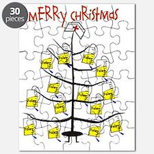 Merry Christmas Nurse Tree Foley Bags Puzzle