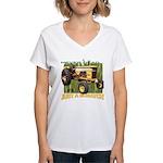 Just a Scratch Women's V-Neck T-Shirt