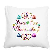 cheerleading Square Canvas Pillow