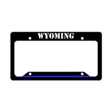 Wyoming Police License Plate Holder