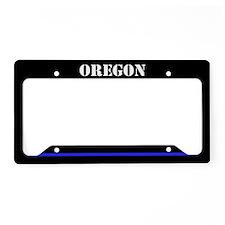 Oregon Police License Plate Holder