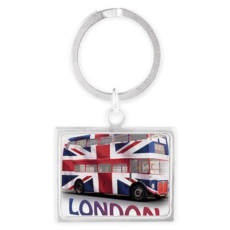 497 London Bus with Union Jack Landscape Keychain