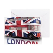 497 London Bus with Union Jack and t Greeting Card