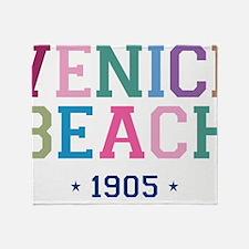 Venice Beach 1905 B Throw Blanket