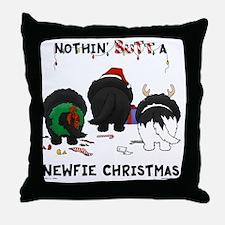 NewfieShirtLight Throw Pillow