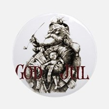 God JUL 2 Round Ornament
