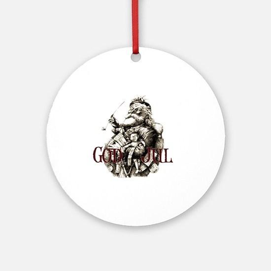 God JUL 2 Round Ornament