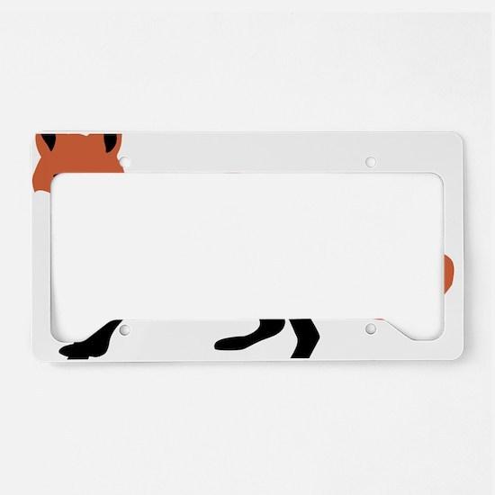 fox_transparent License Plate Holder
