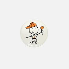Boy & Orange Ribbon Mini Button (10 pack)