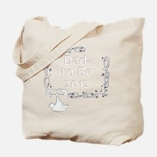 BlkShirtSwrl2_DadToBe12 Tote Bag