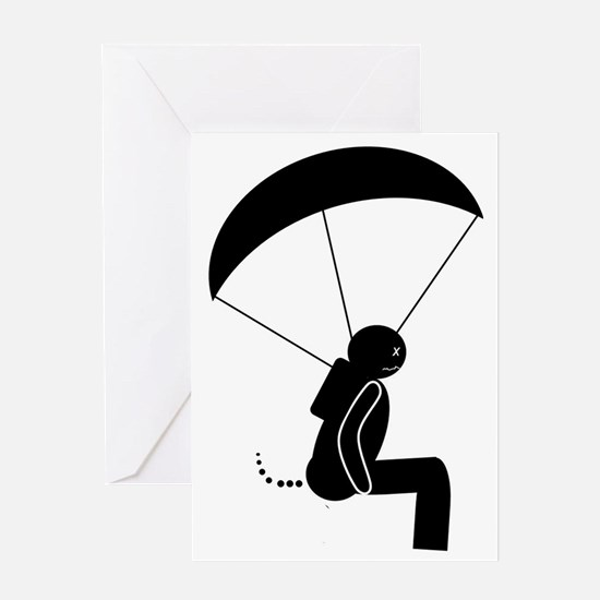 SKYDIVE.POOPMAN Greeting Card