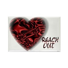 reach out Rectangle Magnet