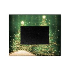Sparkling Christmas Trees Green Picture Frame