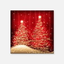 "Sparkling Christmas Trees R Square Sticker 3"" x 3"""