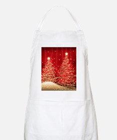Sparkling Christmas Trees Red Apron