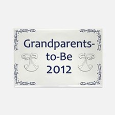 Yard_Grandparents-to-be-12 Rectangle Magnet