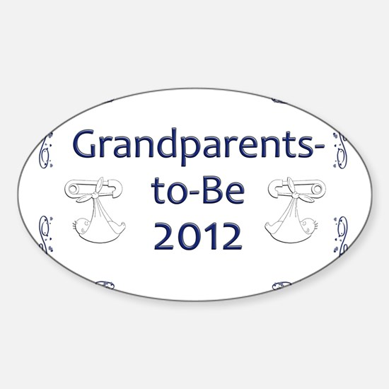 Yard_Grandparents-to-be-12 Sticker (Oval)