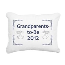 Yard_Grandparents-to-be- Rectangular Canvas Pillow