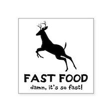 """fast food Square Sticker 3"""" x 3"""""""