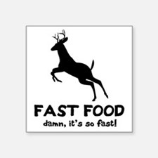 "fast food Square Sticker 3"" x 3"""