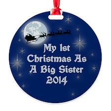 1St Christmas As A Big Sister 2014 Ornament