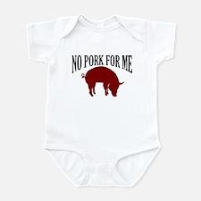 NO PORK FOR ME JEWISH T-SHIRT Infant Bodysuit