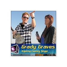 """Grady-Dizzy Square Sticker 3"""" x 3"""""""