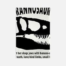 tyrannosaurs Rectangle Magnet