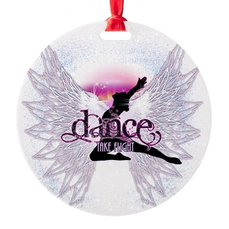 Dance Take Flight by DanceShirts.co Round Ornament