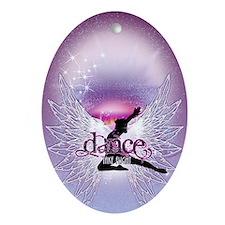 Dance Angel by DanceShirts.com Oval Ornament