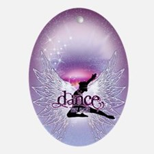 Dance Angel by DanceShirts.com Oval Ornament