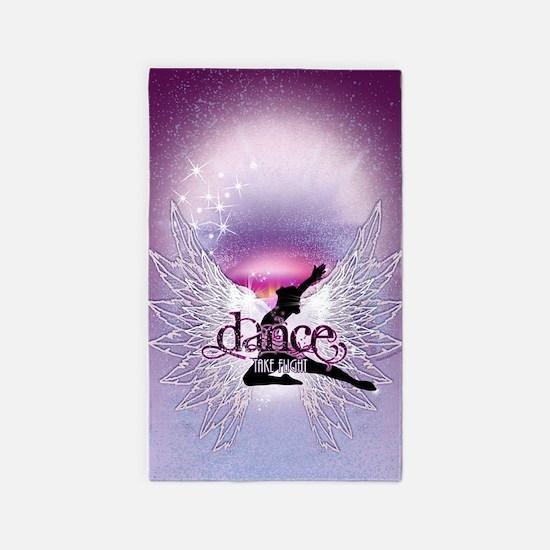 Dance Angel by DanceShirts.com 3'x5' Area Rug