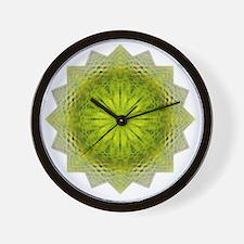Green Flower Heart Chakra Mandala Yoga  Wall Clock
