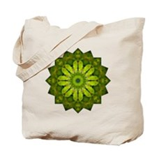 Green Flower Heart Chakra Mandala Yoga Sh Tote Bag