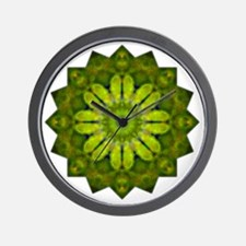 Green Flower Heart Chakra Mandala Yoga  Wall Clock