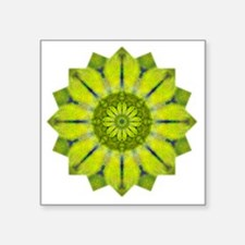 "Green Flower Heart Chakra M Square Sticker 3"" x 3"""