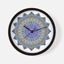 Blue Purple Yoga Mandala Shirt Wall Clock