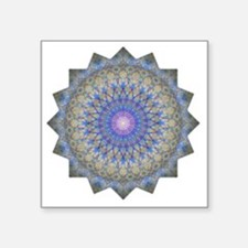 """Blue Purple Yoga Mandala Sh Square Sticker 3"""" x 3"""""""