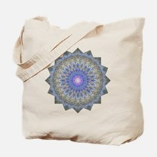 Blue Purple Yoga Mandala Shirt Tote Bag