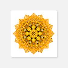 "Gold Orange Yoga Mandala Sh Square Sticker 3"" x 3"""