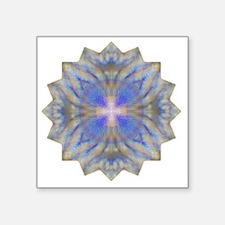 """Purple Blue Yoga Mandala Sh Square Sticker 3"""" x 3"""""""