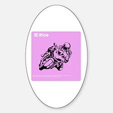 iRide Motorcycle Oval Decal