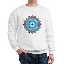 Purple Blue Yoga Mandala Shirt Sweatshirt