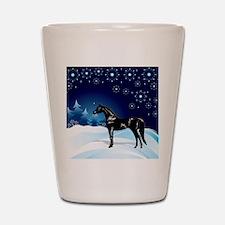 Snow_horse3 Shot Glass